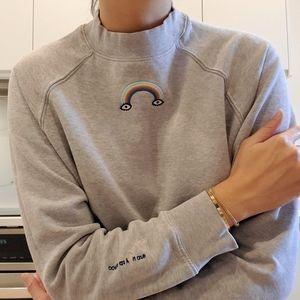 Frank And Oak × Mathilde Corbeil Rainbow cotton sweatshirt